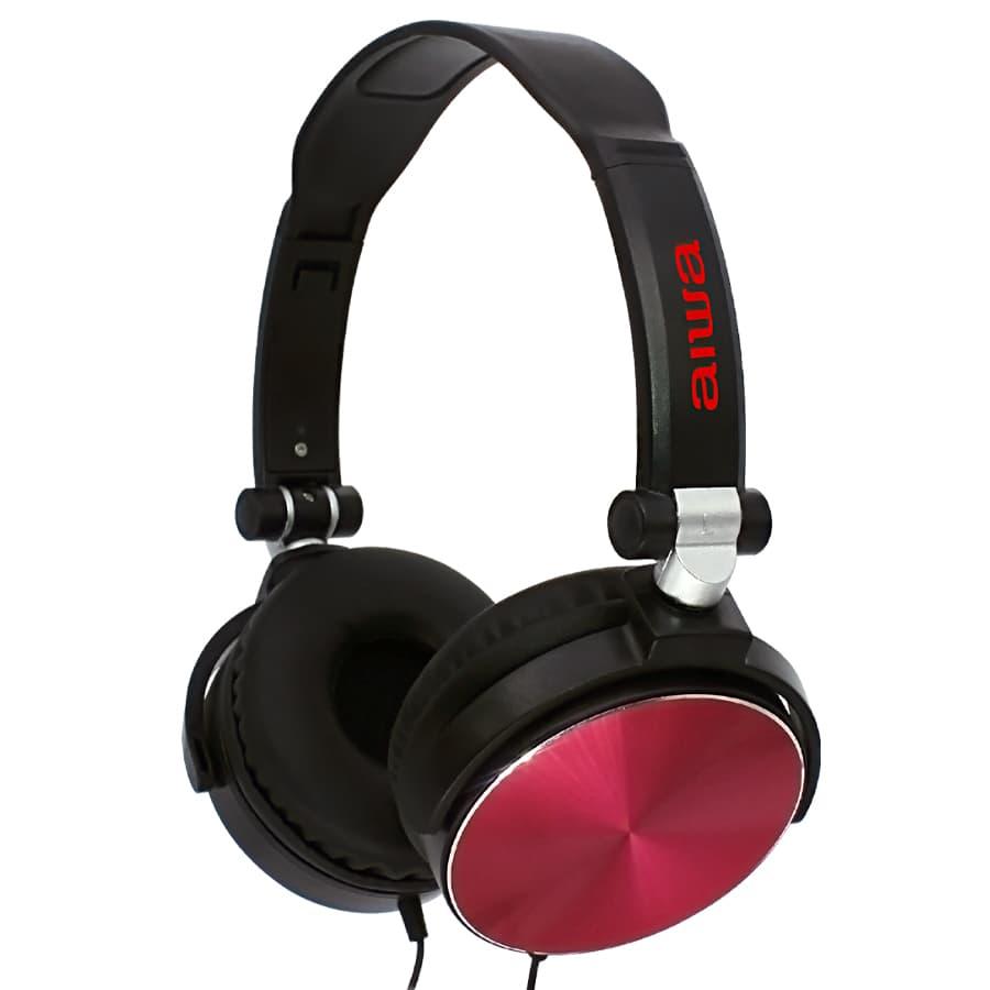 Auriculares-AIWA-On-Ear-Con-Microfono---AWX107R---Rojo