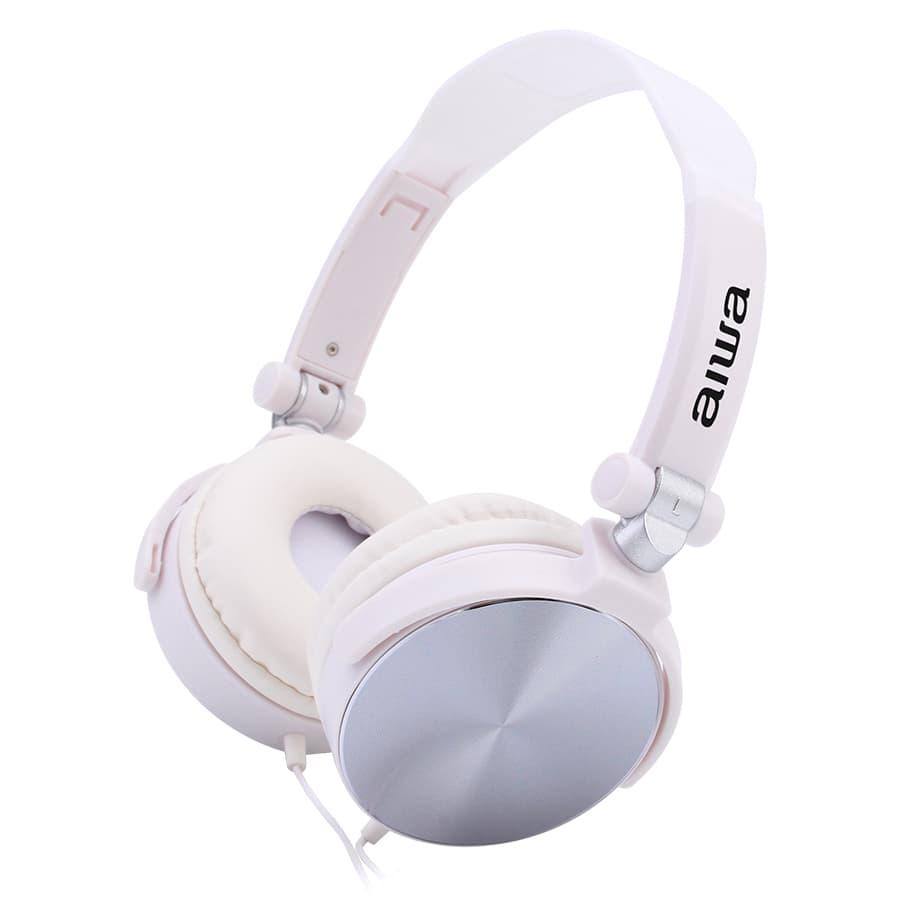 Auriculares-AIWA-On-Ear-Con-Microfono---AW107W---Blanco