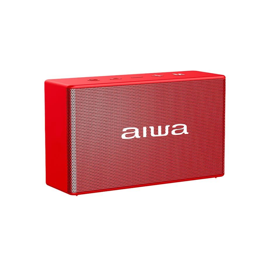 Parlante-AIWA-Portatil---5W-RMS---Bluetooth---TWS---AWAX2BTR---Rojo
