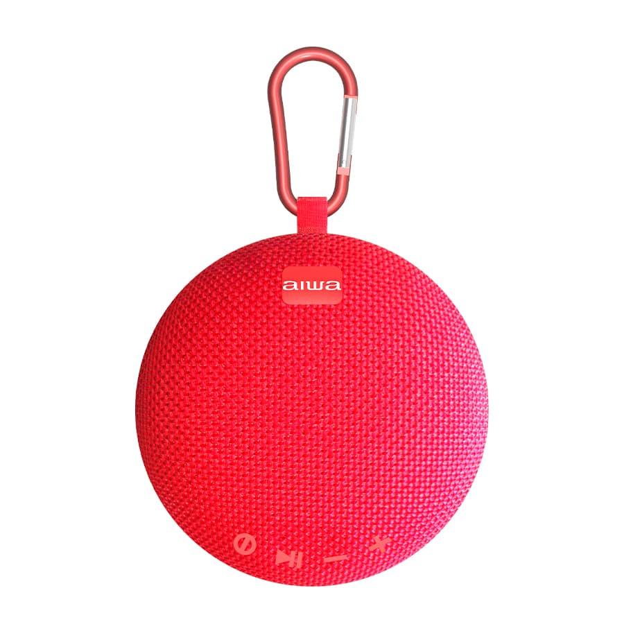 Parlante-AIWA-Portatil---5W-RMS---Bluetooth---TWS---AWAX5BTR---Rojo