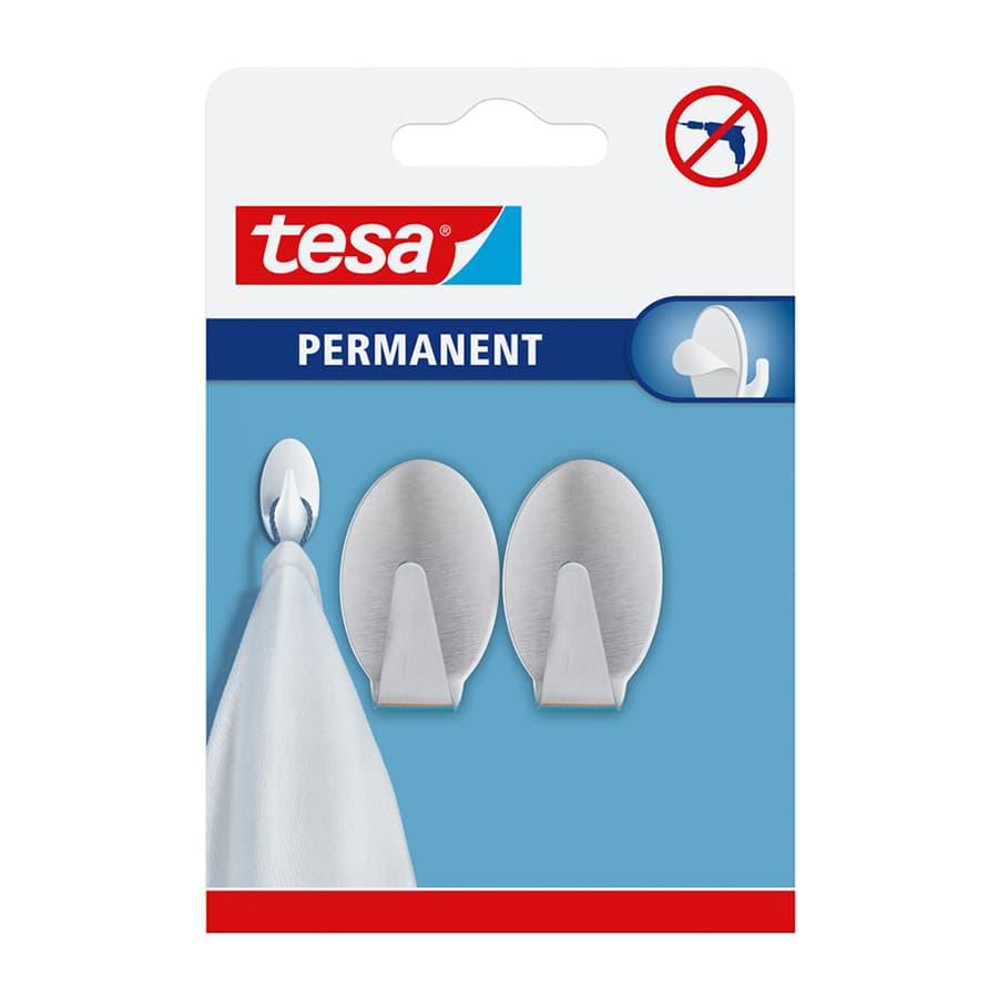Gancho-Permanente-TESA-Ovalado-X2-Unidades---Tamaño-L---Metal