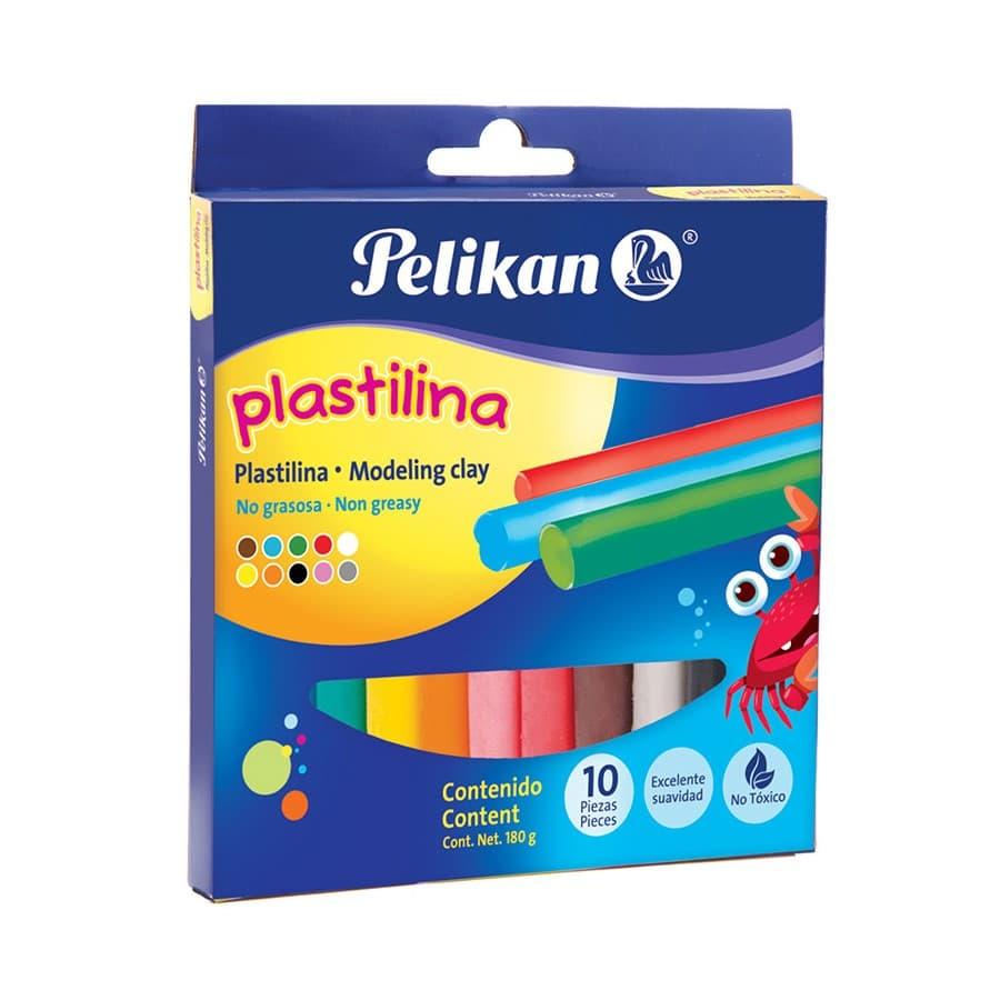 Plastilina-PELIKAN-Caja-X10-Colores