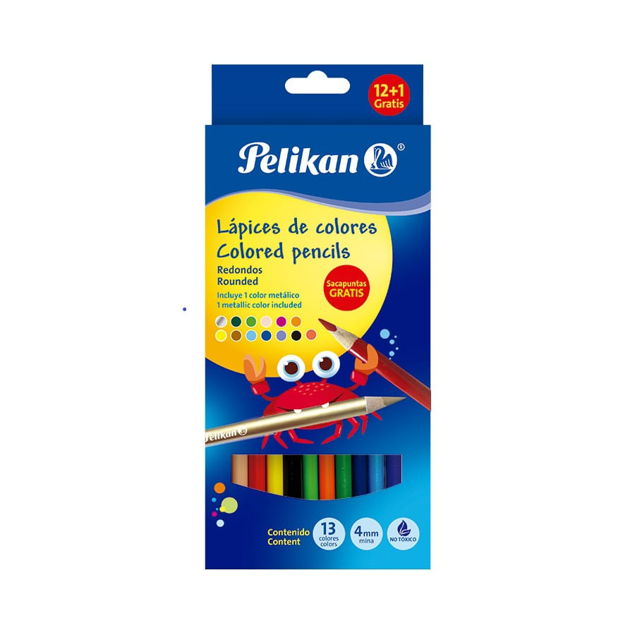 Colores-PELIKAN-Caja-X12-Largos