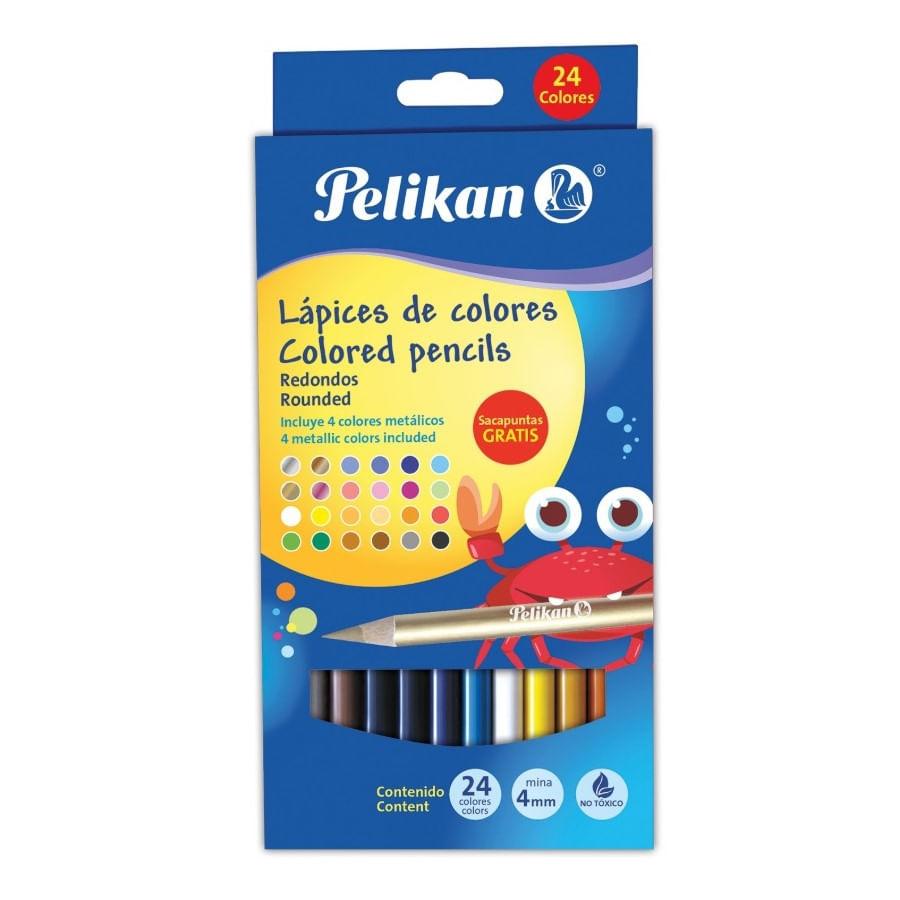 Colores-PELIKAN-Redondo-Caja-X24