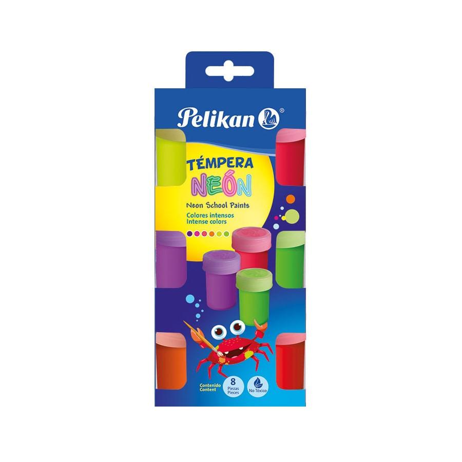 Tempera-PELIKAN-Escolar-Neon-Caja-X6