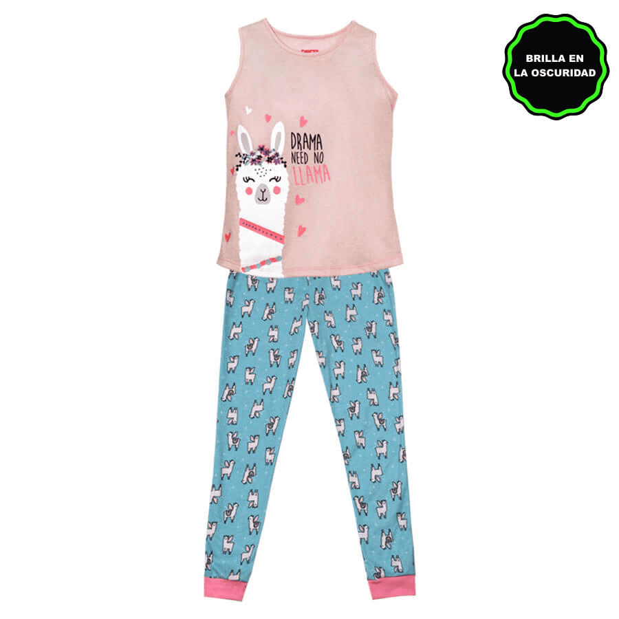 Pijama-Pantalon-DAKOTA-KIDS-Drama-need-No-llama--Rosado--Talla-6