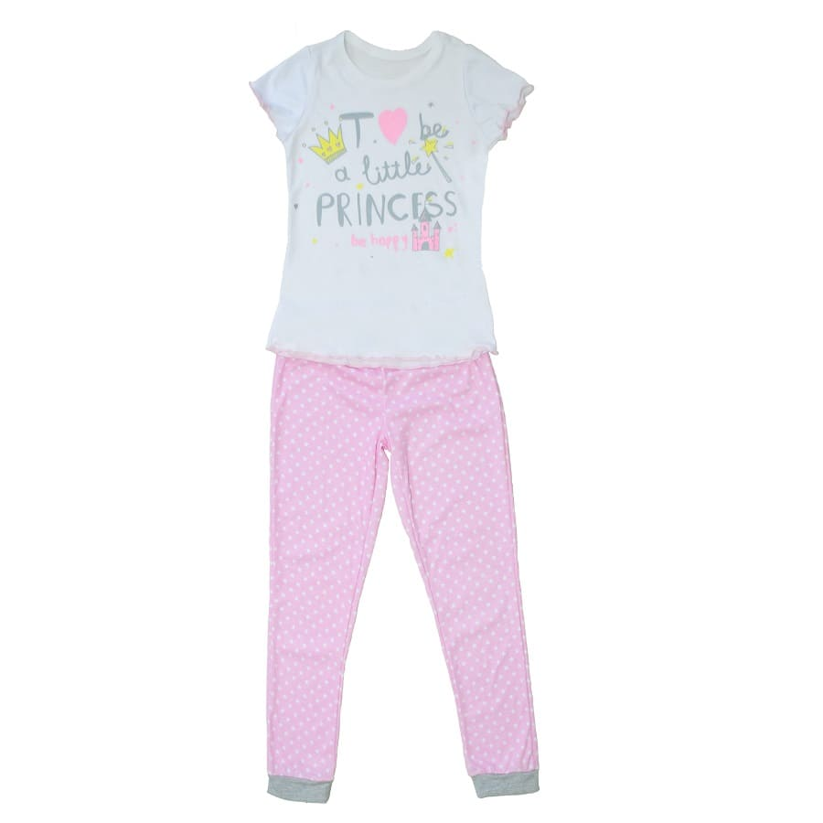 Pijama-Pantalon-DAKOTA-KIDS-Be-a-little-princess--Rosado--Talla-4