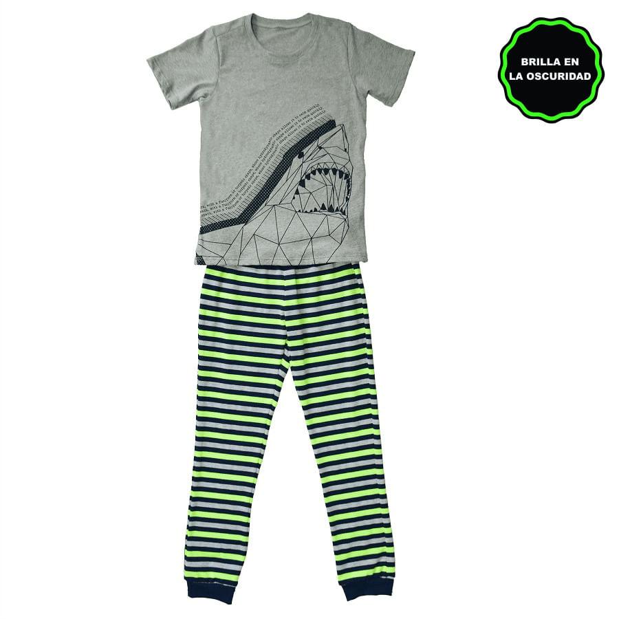 Pijama-Pantalon-DAKOTA-KIDS-Shark--Verde--Talla-6