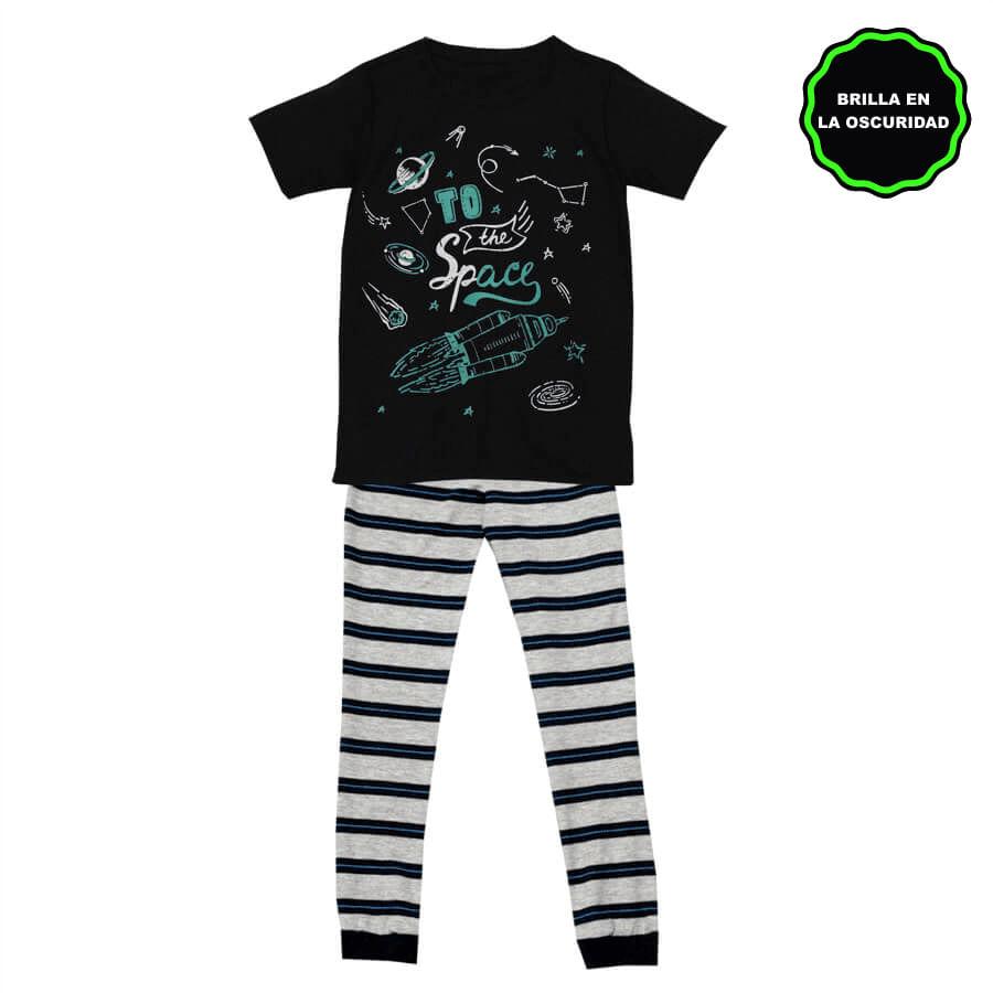 Pijama-Pantalon-DAKOTA-KIDS-To-the-Space--Negro--Talla-6