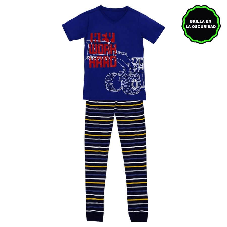 Pijama-Pantalon-DAKOTA-KIDS-Work-Hard--Azul-rey--Talla-6