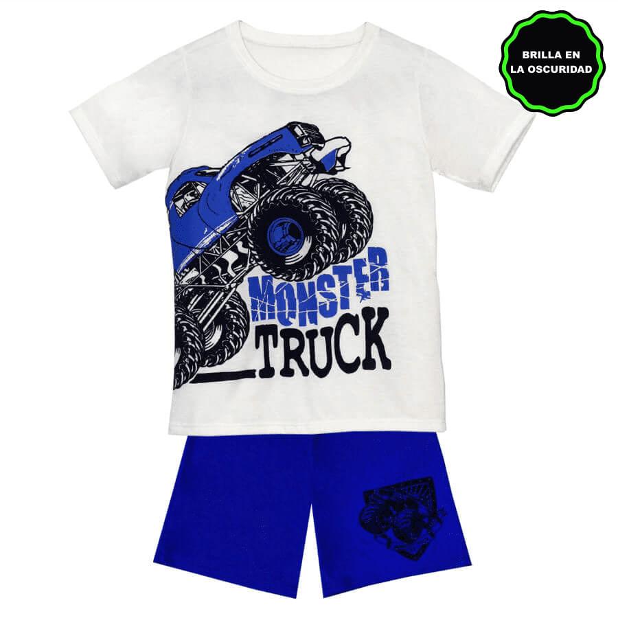 Pijama-Short-DAKOTA-KIDS-Monster-Truck--Beige--Talla-4