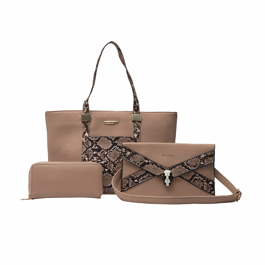 Set-de-Carteras-STYLE-Animal-print-Beige
