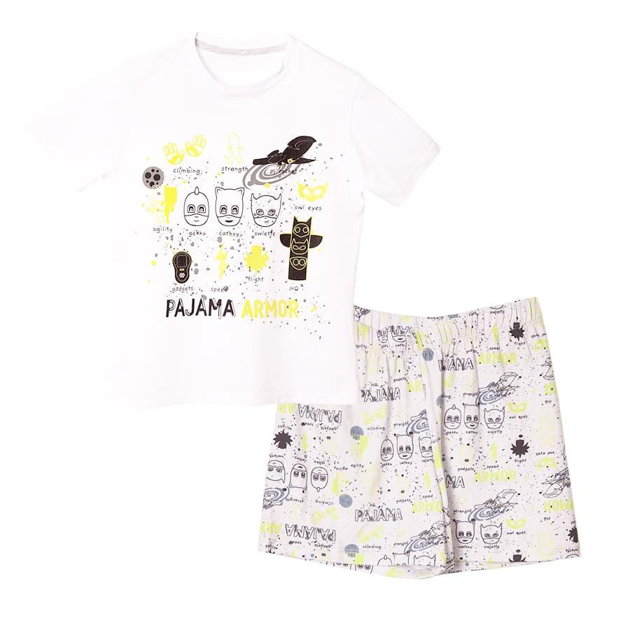 Pijama-Corta-PJ-MASK-Pajama-Armor-Blanco-Gris-Talla-4
