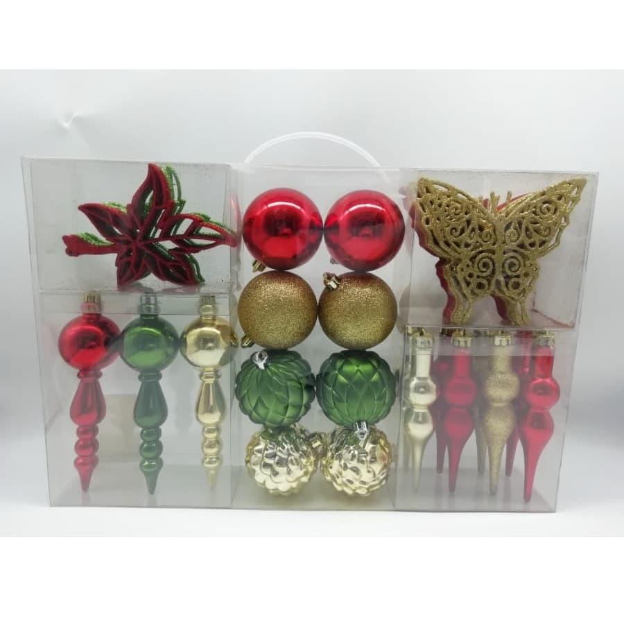 Set-x40--Bolas-CHRISTMAS-HOME---Ornamento-Tradicional