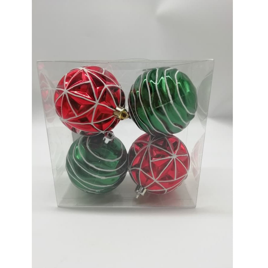 Set-x4-Bolas-CHRISTMAS-HOME-Decoradas-8Cm-Tradicional