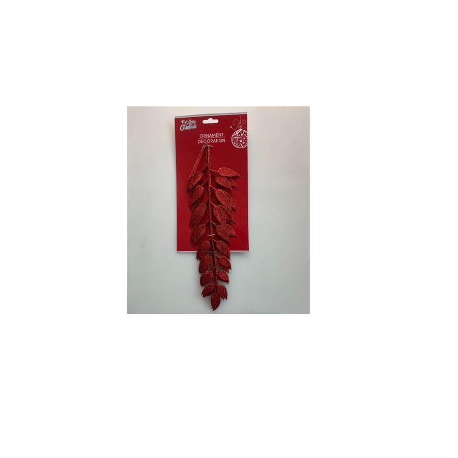 Ornamento-Navideño-Hojas-Decorativas---Rojo-15-Cm