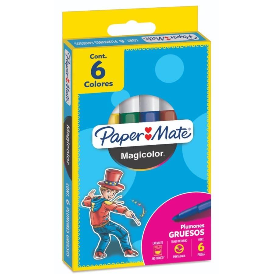 Plumon-PAPER-MATE-Magicolor-Grueso-X6
