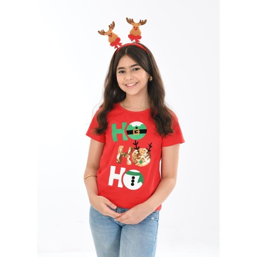 Camiseta-Niña-DAKOTA-Ho-Ho-Ho