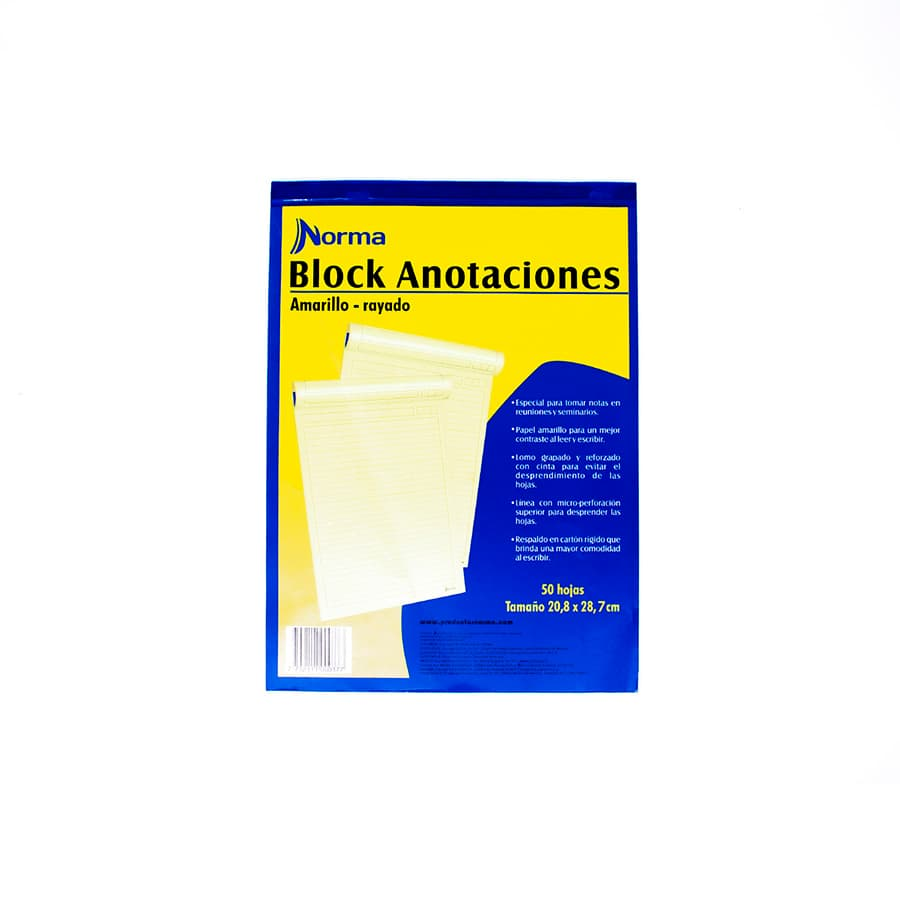 Block-De-Anotaciones-NORMA-Amarillo---Carta---Rayado---50-Hojas