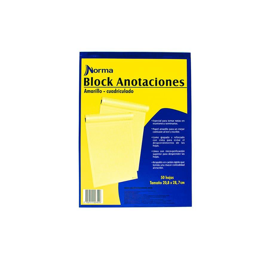 Block-De-Anotaciones-NORMA-Amarillo---Carta---Cuadriculado---50-Hojas