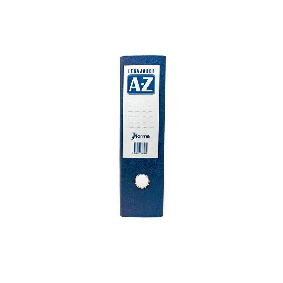 Legajador-AZ-NORMA-Carta---Azul---8-Cm---24-Unidades