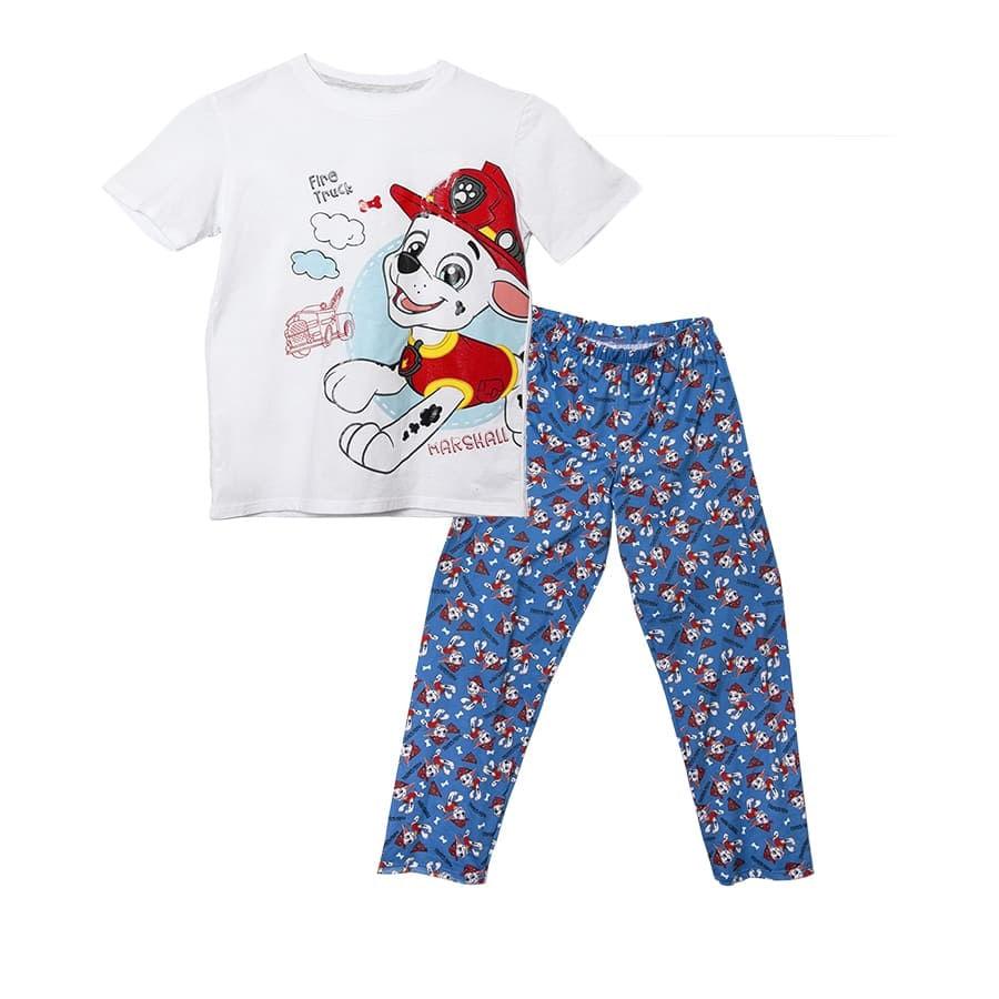 Pijama-Larga-PAW-PATROL-Marshall-Blanco-Azul-Talla-4