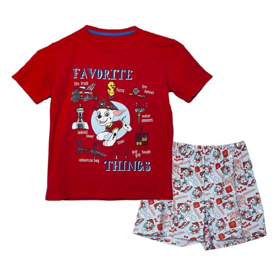 Pijama-Corta-PAW-PATROL-Favorite-Things-Roja-Talla-6