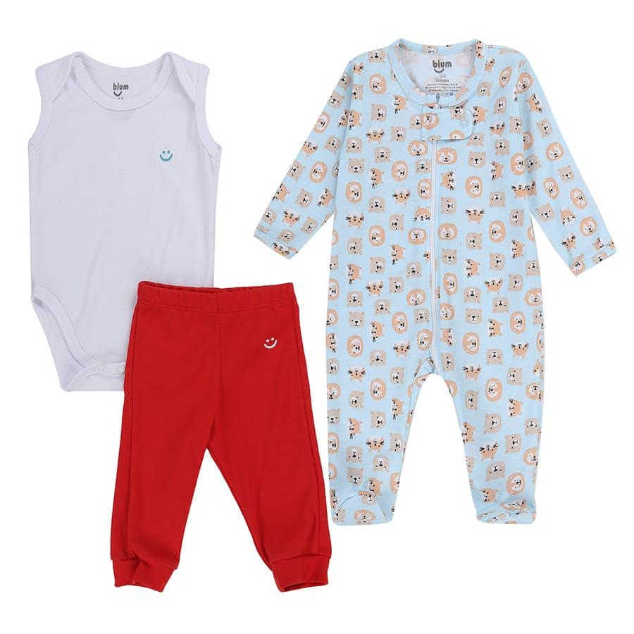 Set-3-Piezas-Pijama-Body-Manga-Corta-y-Pantalon-Tiger-BIUM